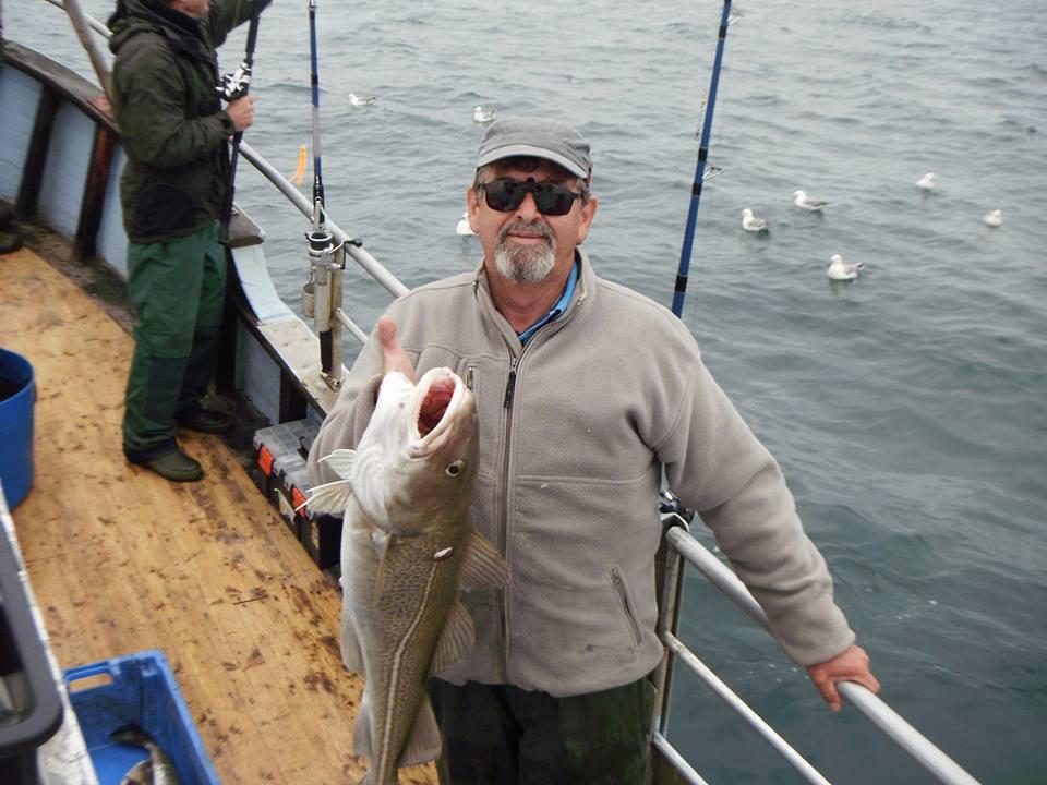 Aage nåede ikke en samlet fangst på 100 kg, men 5 store torsk på gn. snit 6,5 kg blev godkendt!