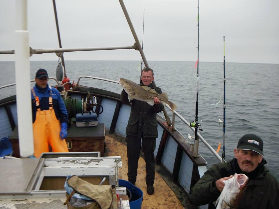 Vagn og Torben med flotte torsk!!